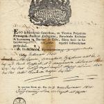 Atto di nascita,1753