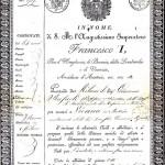 Passaporto per Vienna,1818